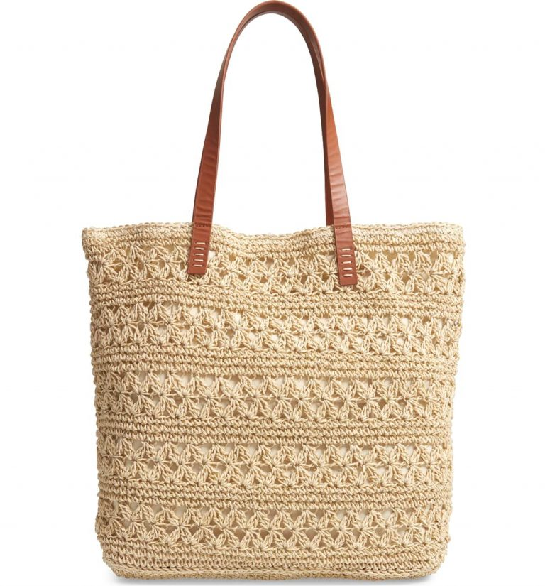 Packable Woven Raffia Tote by Nordstrom 768x825 - Easy Breezy Spring Or Vacation Look