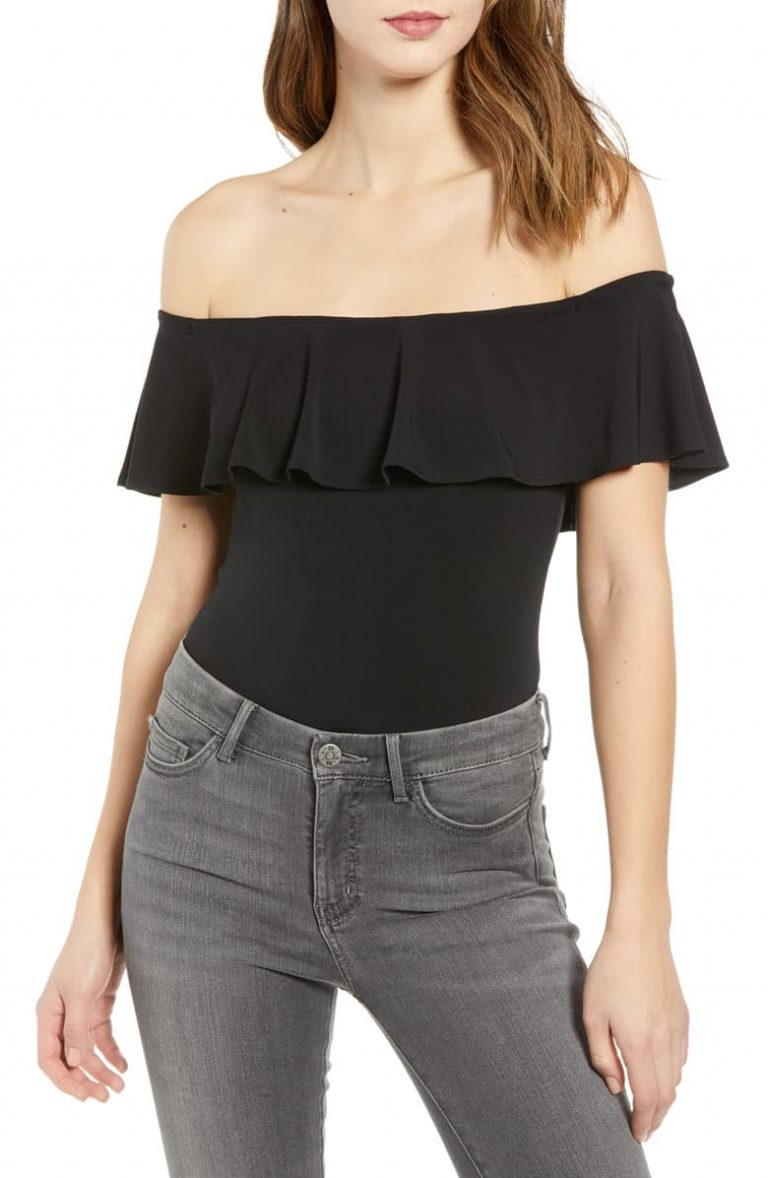 Off Shoulder Cool Ruffle by Leith 768x1178 - 10 Cool Casual Tops For Women