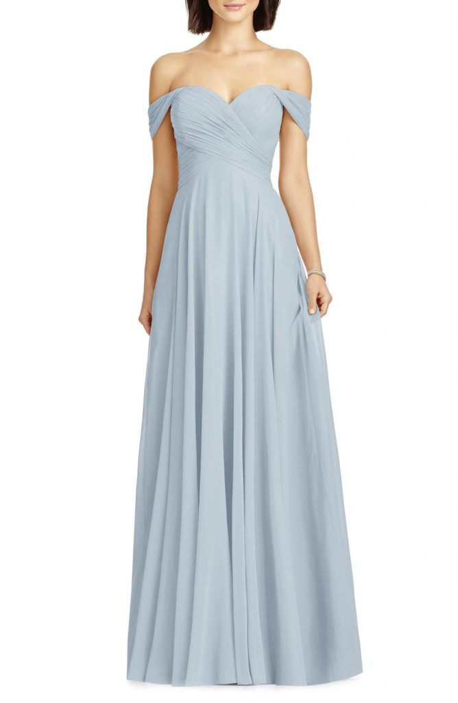 Lux Ruched Off the Shoulder Chiffon Gown 668x1024 - Home