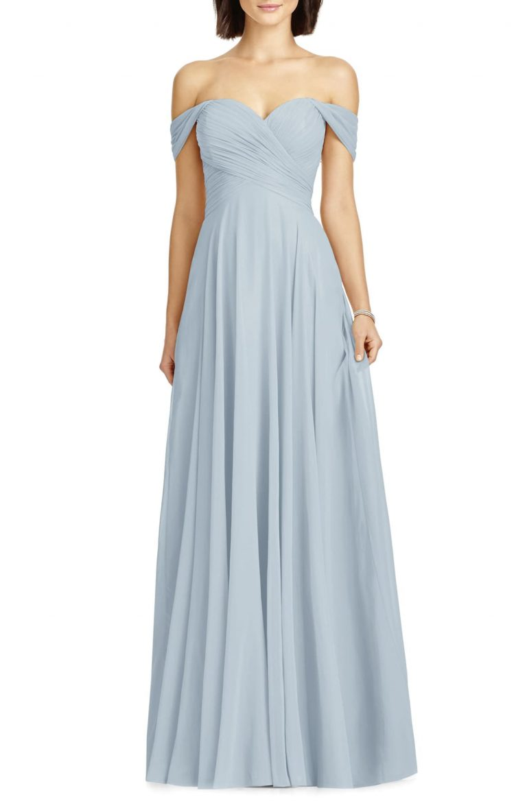 Lux Ruched Off the Shoulder Chiffon Gown 768x1178 - Top 7 Formal Dresses You Should Know About