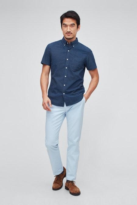 WOVEN CASUAL SHIRT BUTTON DOWN WOVEN SHIRT 20799 BLY25 1 - Best 9 Dress Options For Modern Men