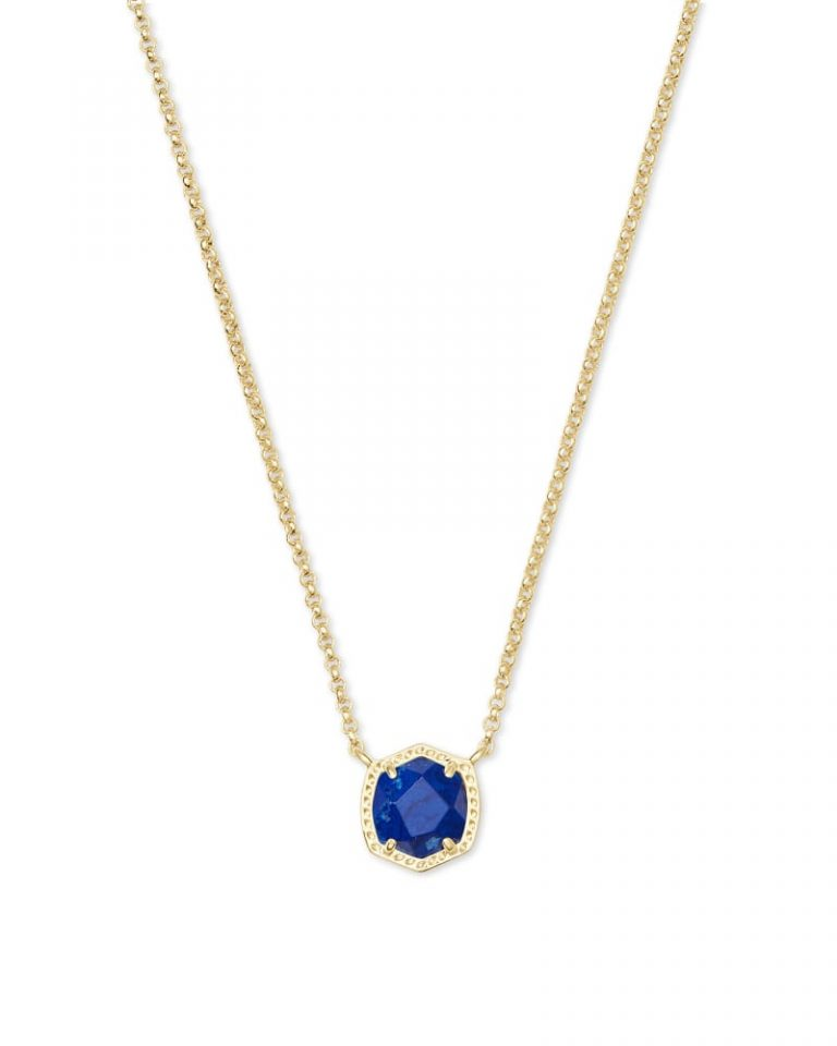 kendra scott davie short pendant necklace gold cobalt howlite 00 lg 768x960 - Necklaces Which Make Her Swoon Without A Hole In Your Pocket