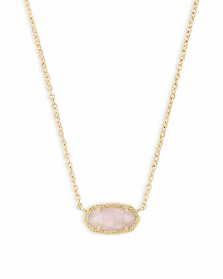 kendra scott elisa gold pendant necklace in rose quartz 00 default lg 768x960 - Necklaces Which Make Her Swoon Without A Hole In Your Pocket
