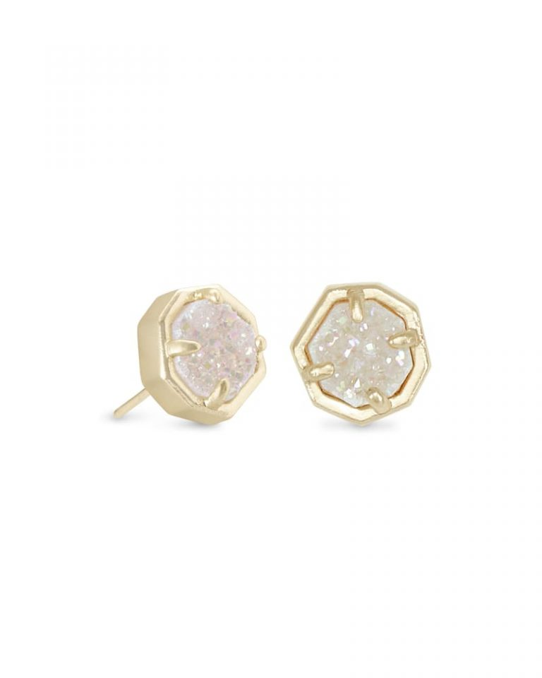 kendra scott nola stud earring gold iridescent drusy 00 lg 768x960 - 8 Vintage Gold Jewelry Your Beloved Will Love