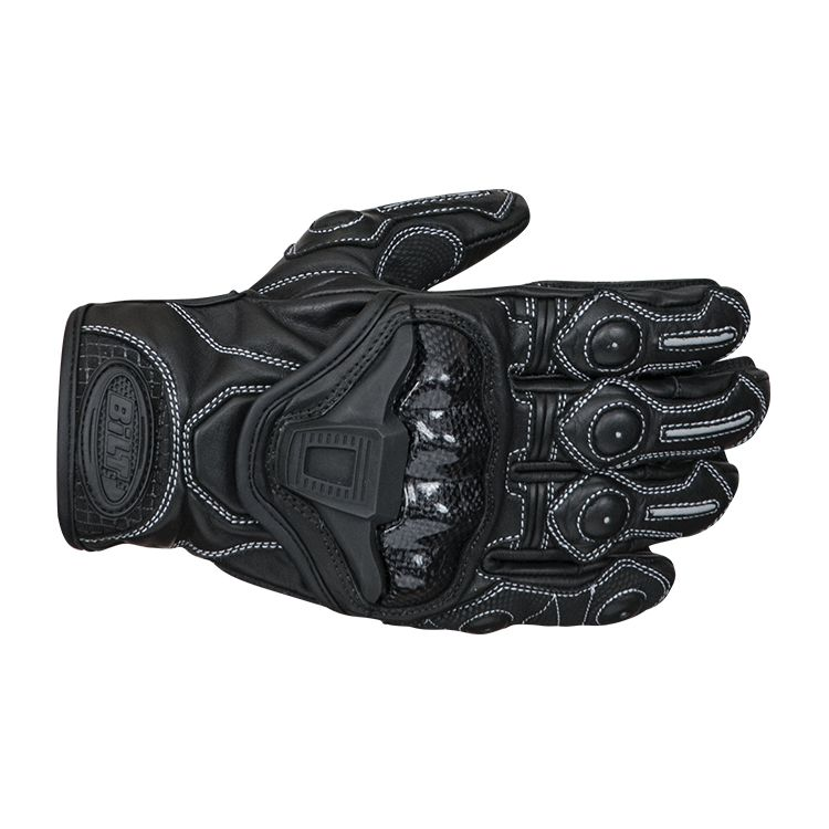 bilt trophy leather gloves black 750x750 - 11 Stylish And Protective Riding Wear