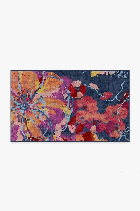 watercolor floral navy A RC 0426 35 720x720 - 10 Rugs for Small Areas You Simply Cannot Live without