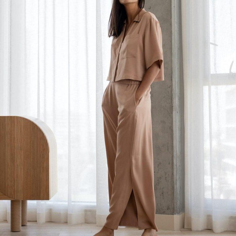 Lunya BareButtonDownPantSet PDP 8 min bcec2c7e 27e7 4925 8b41 1615893c2cdb 2048x2048 11 768x768 - 9 Silk Pajamas Set For The Best Sleep You Expect