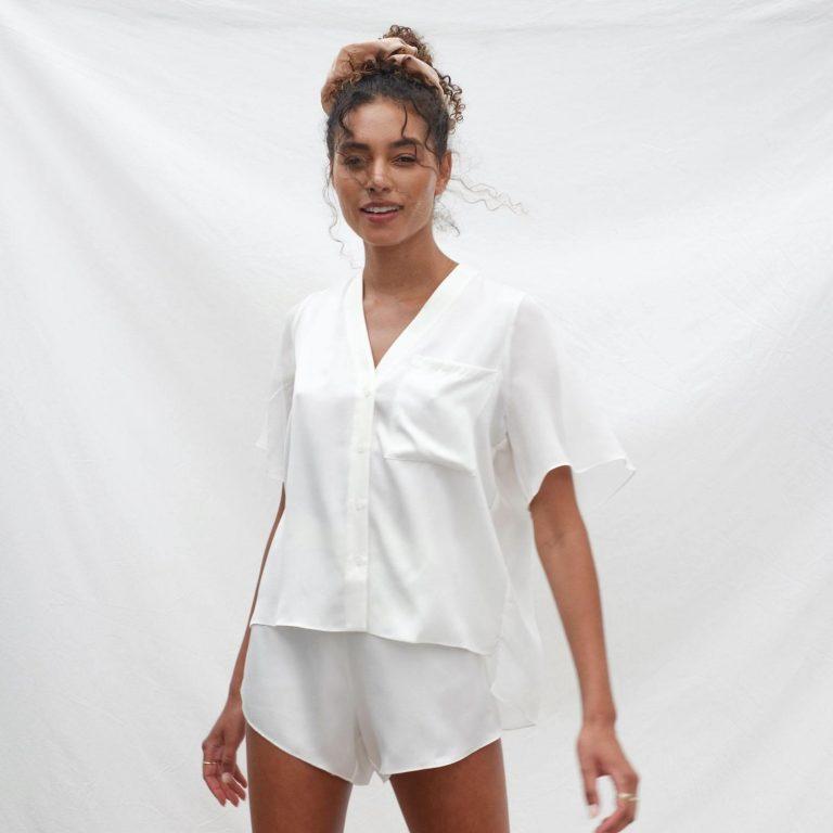 Lunya PrimaSilkChiffonSet Starlight 1 min 2048x20481 768x768 - 9 Silk Pajamas Set For The Best Sleep You Expect